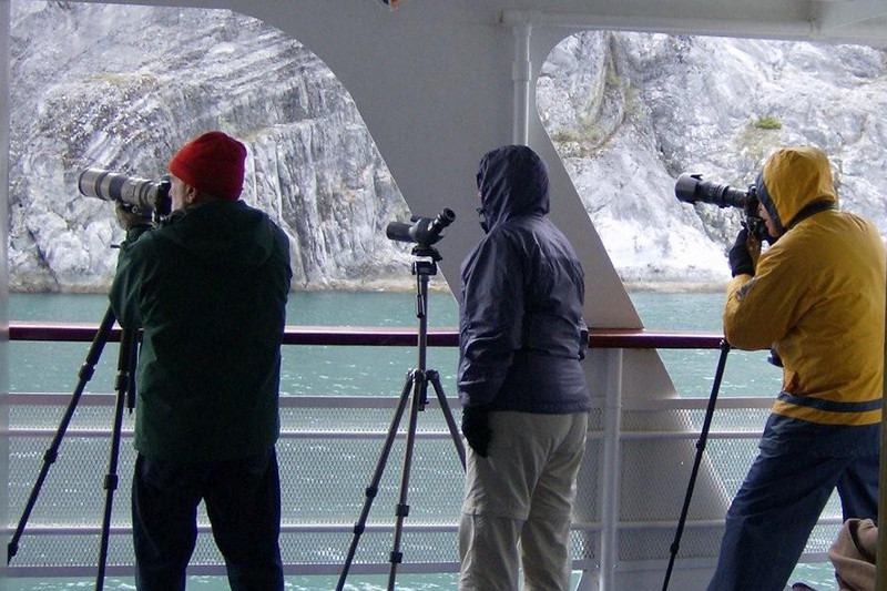 Day 3 on Cruise West, Whales and Wilderness trip.  Glacier Bay National Park.  I questioned if a tripod was useful on a rocking boat.  Turns out it doesn't rock much and the tripod is very useful.  Can feel some engine noise.