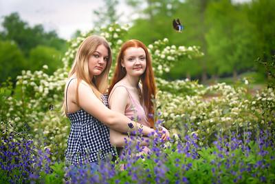 girls in flowers-