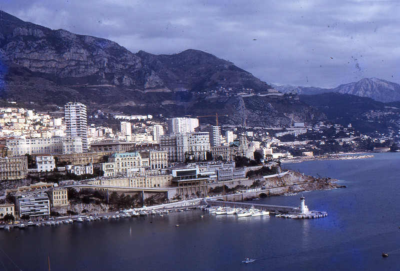Monte Carlo from Monaco palace, 1973