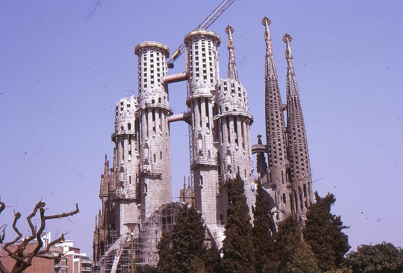 La Sagrada Familia, Barcelona, 1973