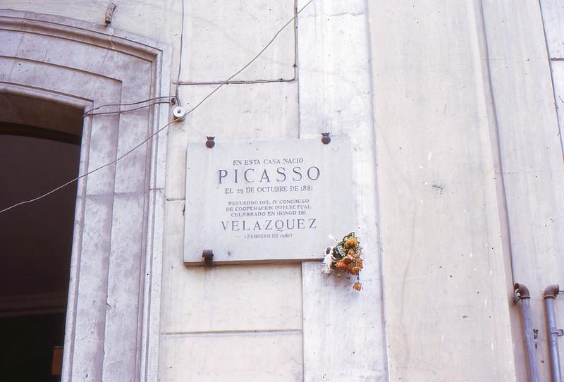 Picasso house, Malaga, Spain, 1973