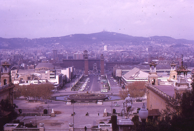 View of Barcelon from Exposition ground, 1972