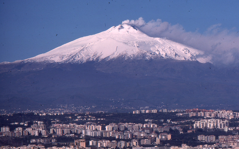 Mt. Etna from Catania, 1976