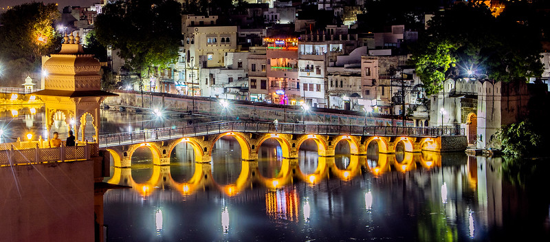 Udipur Bridge at Night -2016 *