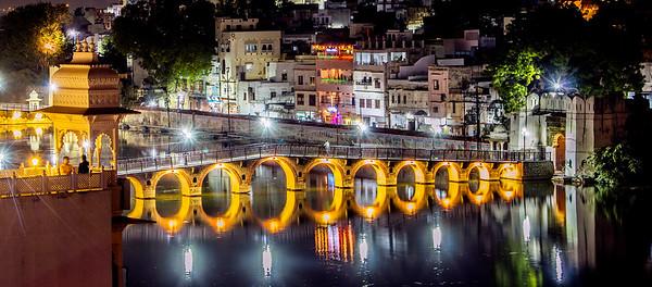 Udipur Bridge at Night -2016 *