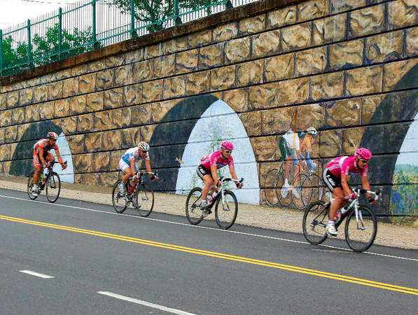 Riders at the Mural - 2003