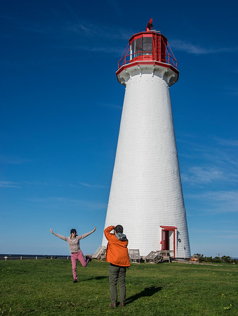 Prince Edwards Island Light #1 with tourist - 2017
