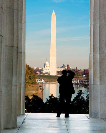Monument From Lincoln Memorial - 2009