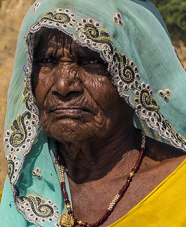 Indian Woman (severe  crop) -2016 *