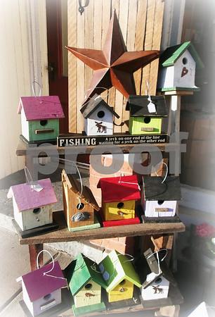 "New Birdhouses at ""Peddler's Junction"" 510 Main St in New Hartford CT"