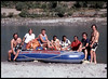 """Uttar Ganga Expedition"" (Rishikesh, India), with Reagan Ramsey.  Lute Jerstad on his left. 1975."