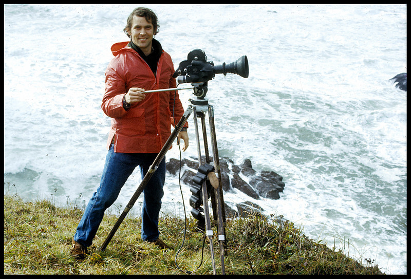 """Land's Edge"" Tom Chamberlin, producer/director/editor, 1973.  <br /> Photo: Richard Blakeslee"