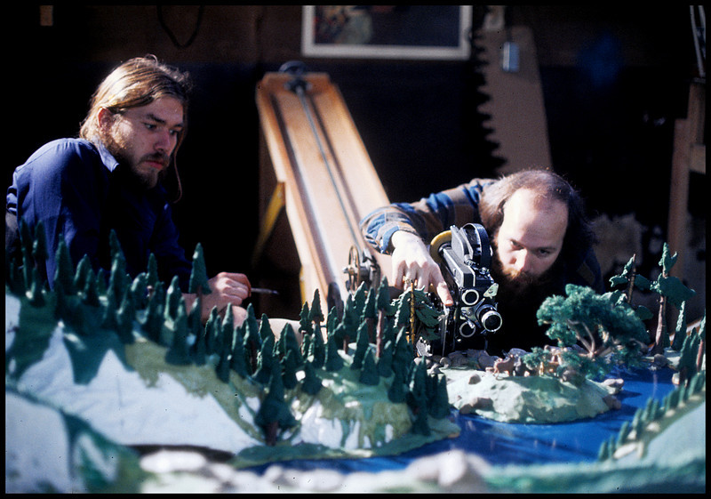 """'Mountian Music"""", With the late Bob Gardiner and Will Vinton,  1975.  <br /> Photo: Richard Blakeslee"""
