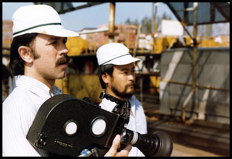 Industrial Film; Yokohama, Japan; Kiyo Mourakami, second camera.  1978.  <br /> Photo: Dan Biggs.