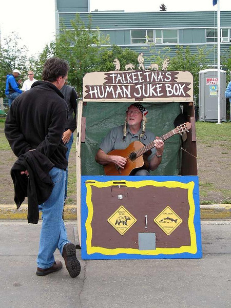 From a street fair in Anchorage, Alaska. Yes, you can conclude that some Alaskan's are easily entertained!