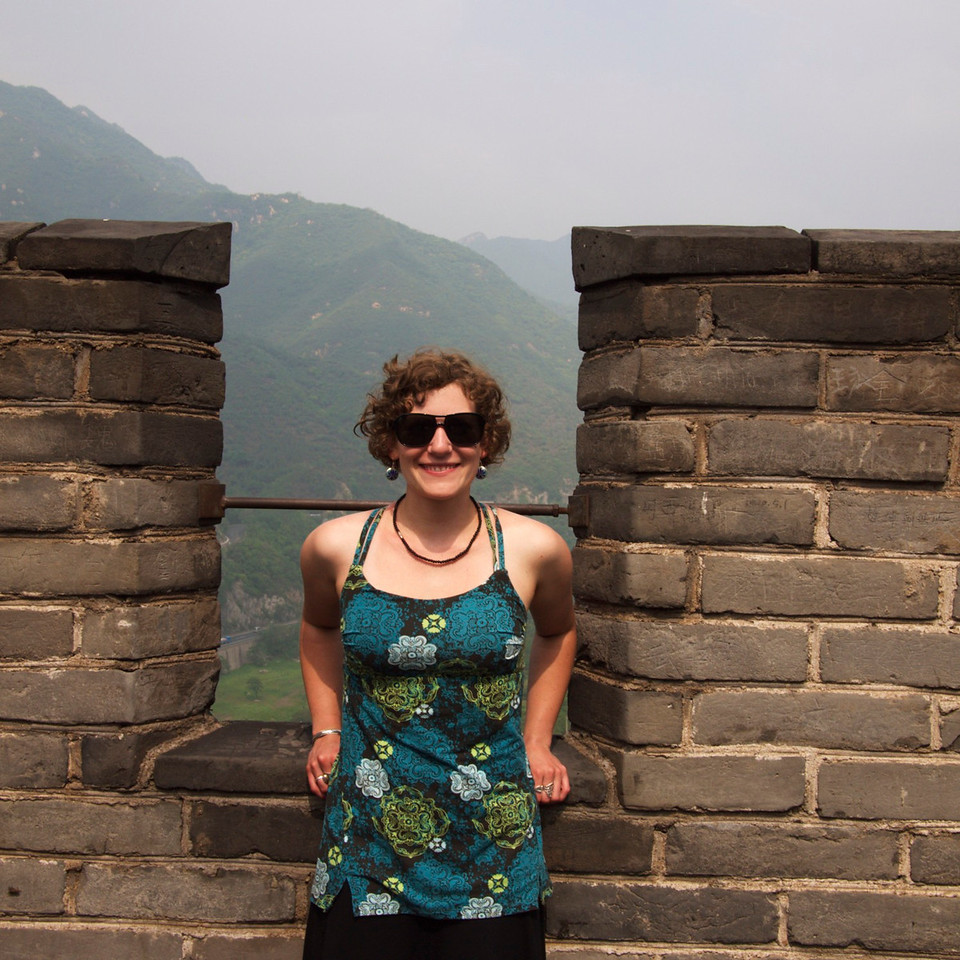 at the great wall - photo taken by pavi