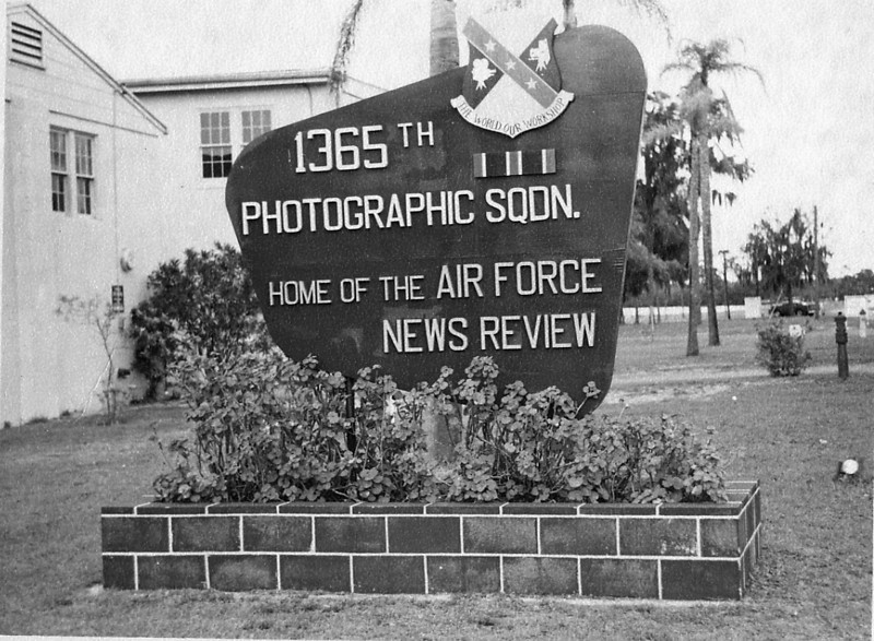 1365th Photo Sqdn., 'The World Our Workshop.'  <br /> Orlando Air Force Base, Florida. <br /> I went to motion picture camera school there in the spring of 1962.