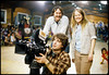 Rick Johnson, producer, director, cameraman; Tom Gordon, Peggy Miles.  A film on the Warm Springs Indian Reservation.  1979.<br /> Photo: Richard Blakeslee
