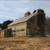 Mount Holly barn restoration in progress.