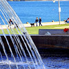 The fountain is called òur Lady of the Lake`. Spencer Smith Park in Burlington!