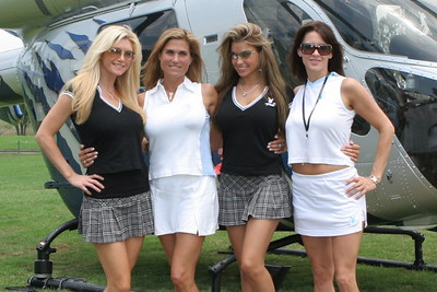 Brandie Rodrik, Amey Hoey, Monica Leigh & Heather at Playboy Golf Tournie SD