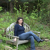 Taking a break from the camera at Botanical Gardens in Richmond, VA.  Photo by Stan.