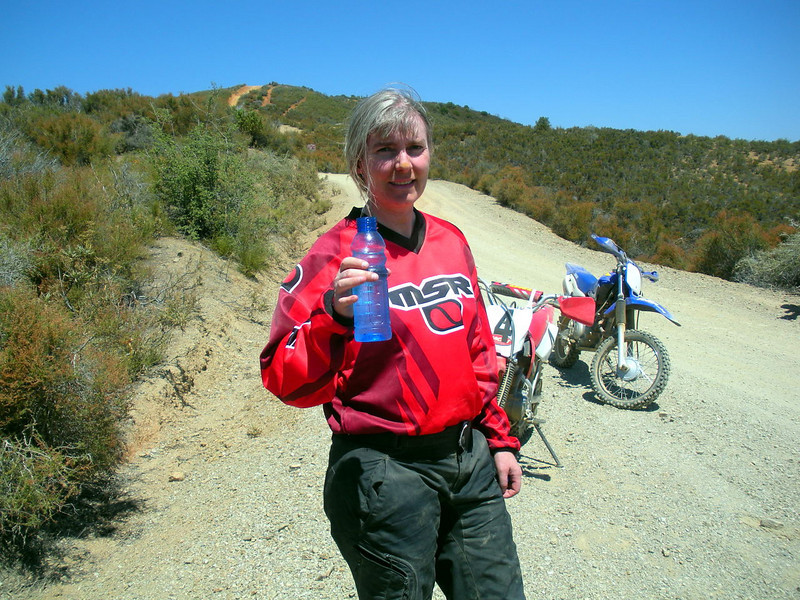 After the ride - water is good...