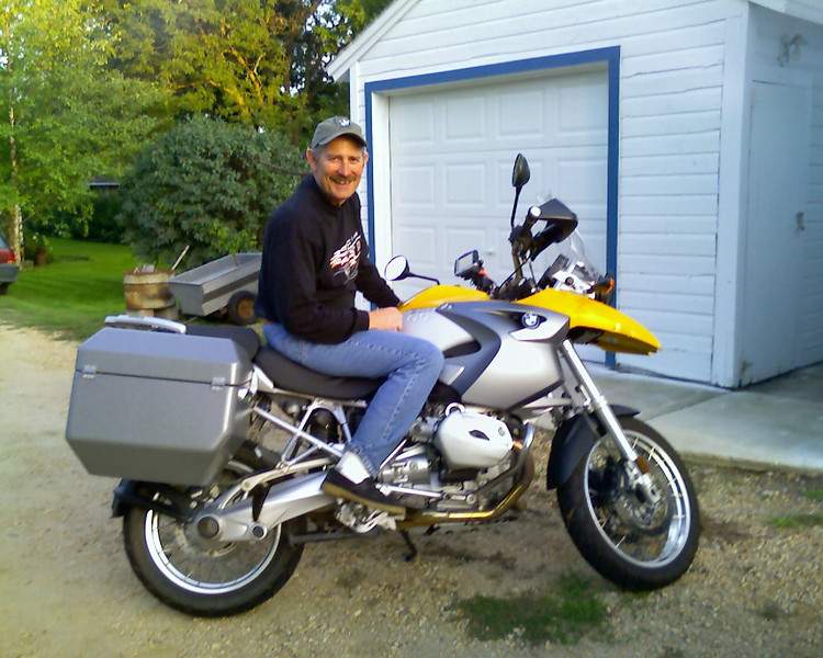 Mike on the R1200GS