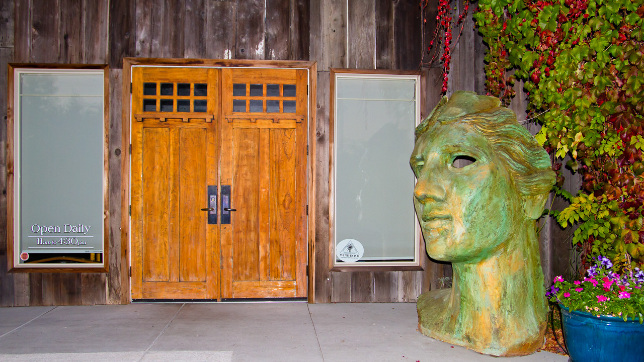 Some artwork outside the entrance to Moshin Vineyards in the heart of Russian River Valley