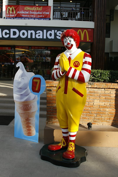 Ronald McDonald - Thai style.