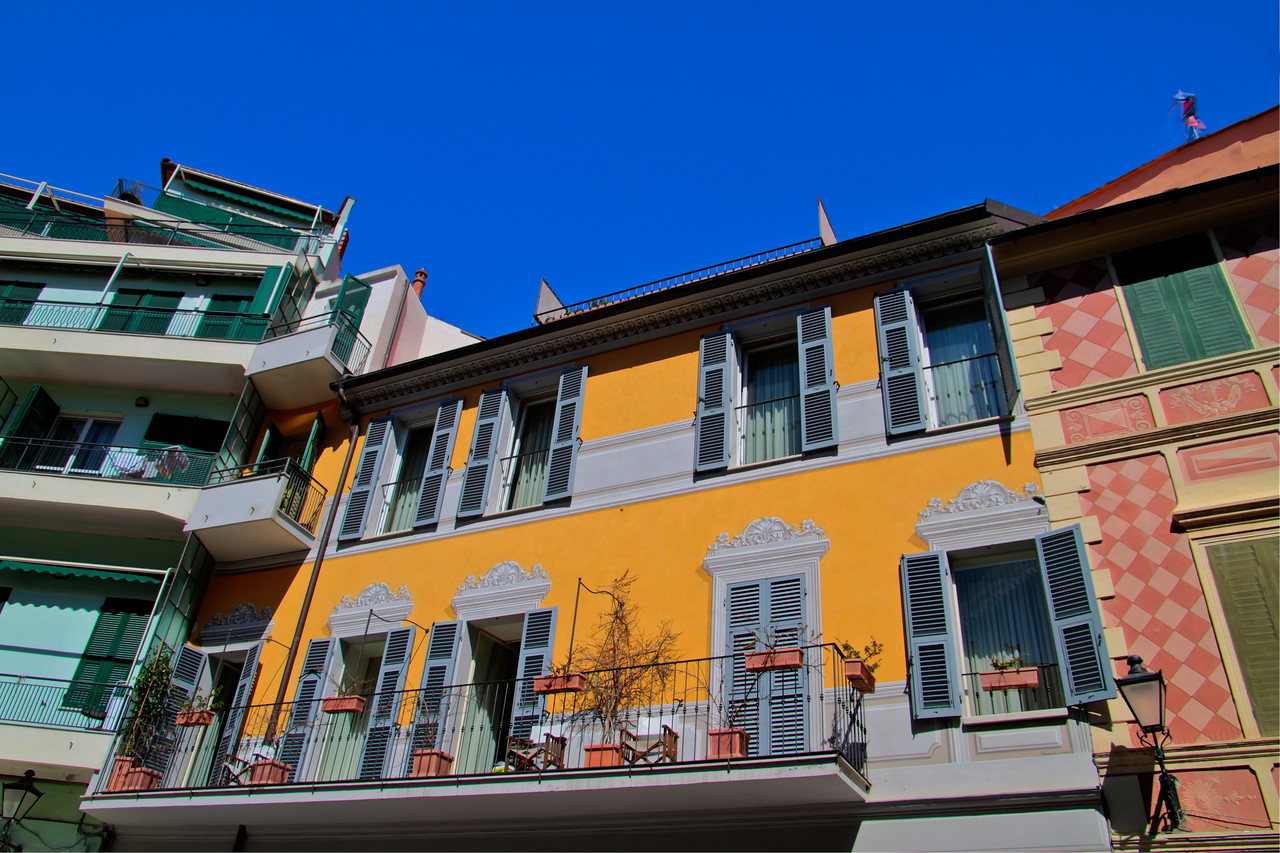 This handheld image is meant to capture the wonderfully colorful town of Loano, on the Ligurian coast of Italy. Otherwise known as the Italian Riviera, this town reminded me of Disneyworld meets the Riveria - each building so colorful and appealing as to seem unreal, as if it could be found on a movie studio set. But it's all real, and it's all quite pleasing. This winegrowing area is best known for the Vermentino varietal, which pairs well with the light, seafood inspired cuisine the area is well known for.
