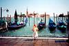 Venice - Girl & Gondolas (J  McLeod, 1999)