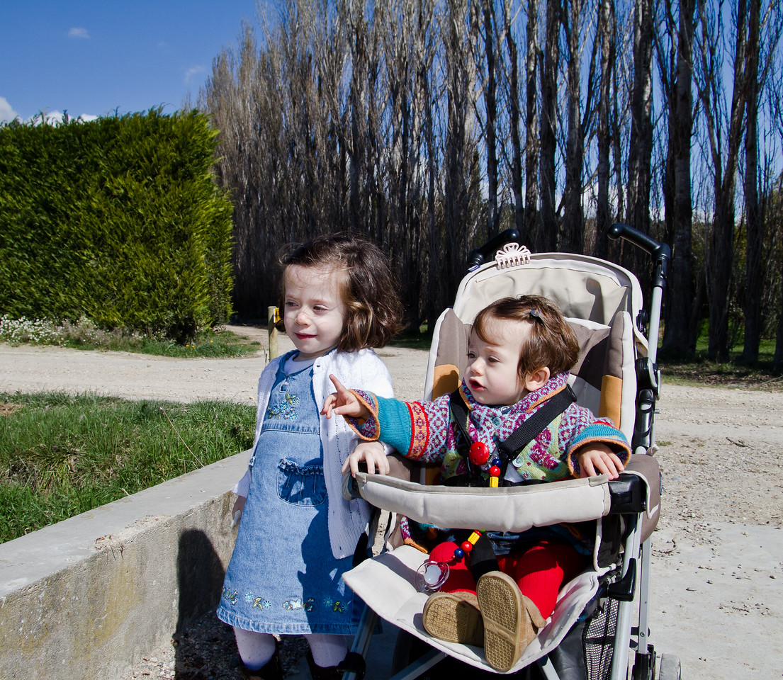 Two beautiful little girls, Clara (L) speaks French and Spanish, and baby Inez (Spanish only for the moment, she's one) take some time to ride horses in the countryside of Provence. My good friend, Santiago, an Argentinian currently working in the wine industry in Bordeaux and the father of these two lovelies was our guide and host on this day.