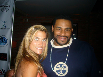 Amey & Jerome Bettis - Marcus Allen's Charity Bowling Party LA
