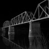 Murray Bridge SA -Train Crossing - B/W