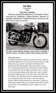 Harlvin Motorcycle built by Ed Allyn