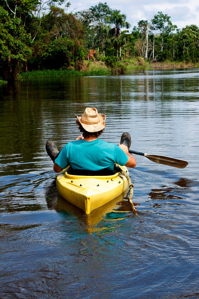 Paddling down the Amazon....
