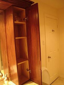 top of vanity door open