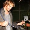 Measuring an orange ring coral snake I caught in Peru.