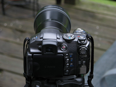 This is our Canon S3-IS w/Sony DH1758 teleconverter attached.