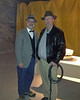 """Winter, 2013. Kansas Salt Museum, Hutchinson, KS. Murder mystery dinner theater based on the """"Indiana Jones"""" movies. Guests were encouraged to dress as characters from the movie series. Myself (r) dressed up as Indiana Jones with some other guest dressed as Indiana's dad, Dr. Henry Jones, Sr."""