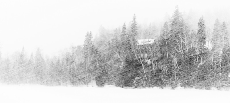 December 27, 2007<br /> Chalet in a blizzard