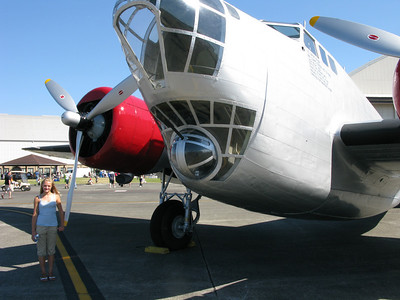 Pre WW2 Bomber on Display at McCord Airforce Base, 2008 airshow. Maddy.