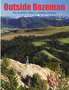 "Outside Bozeman's first issue. This is a spring photo looking across Gallatin Valley from the ""M"" trail to Hyalite Peak and the Gallatin Mountain range. Photo by Jim R Harris Bozeman Montana Photographer"