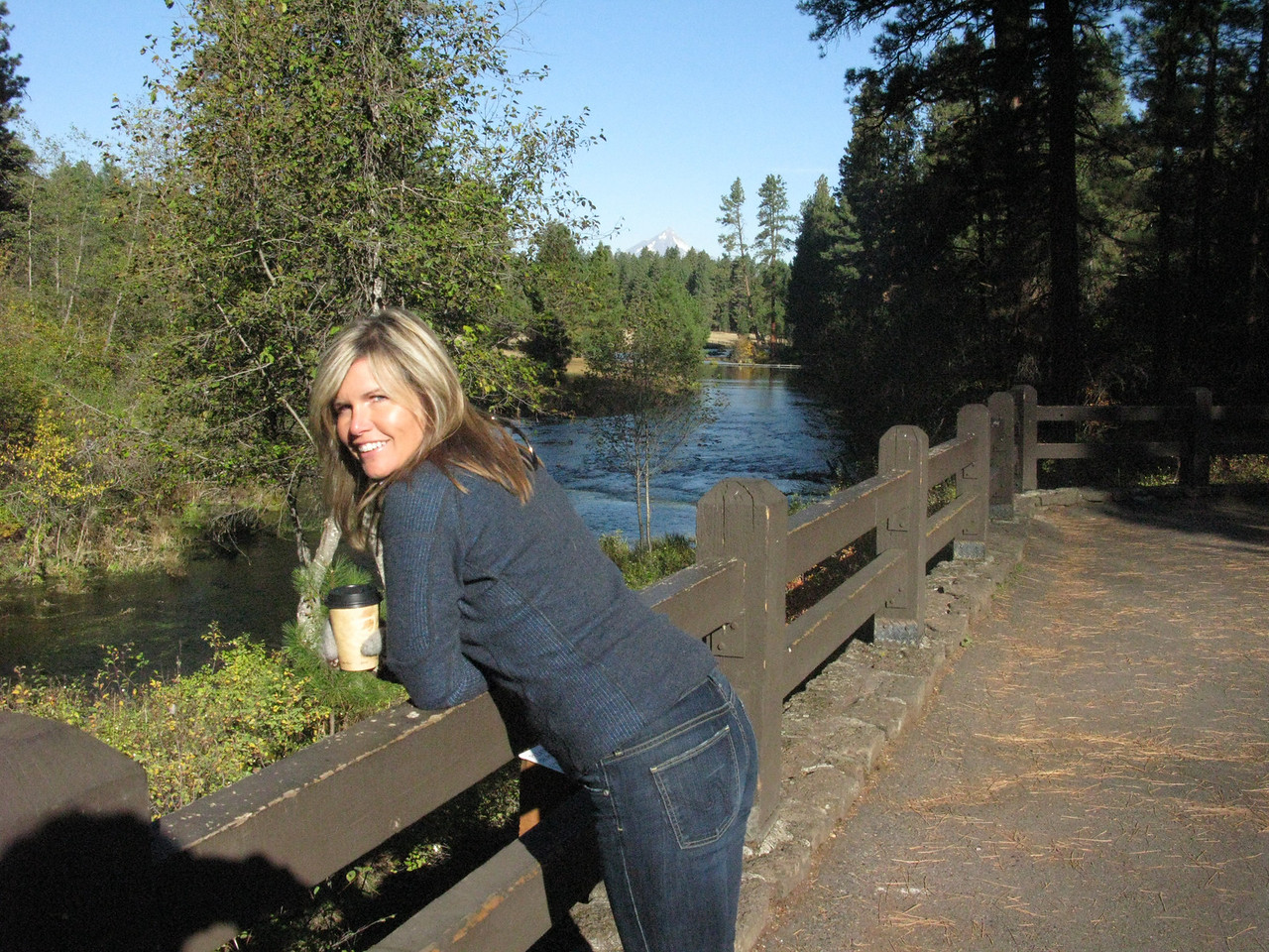 coffee at the head of the metolious river....nice.