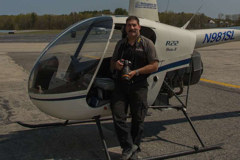 Bruce after piloting and shooting a photo flight