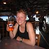 Kristine having an Alaskan beer in Skagway, Alaska July, 2011