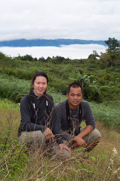 Sylvia and Tonji<br /> <br /> On our way to look for the Philippine Eagle.