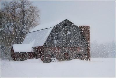 Snowy Barn  Middlebury, VT.