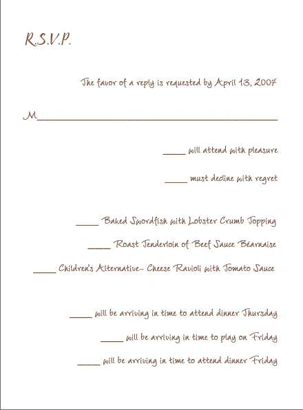 Rsvp wording for multiple event wedding rsvp insert spiritdancerdesigns Image collections